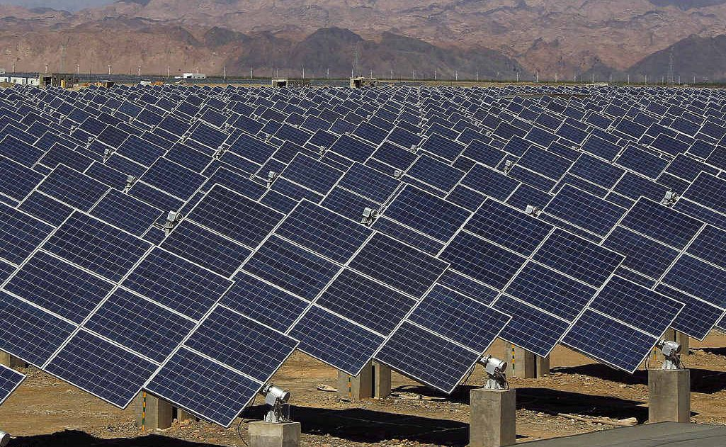 WAY OF THE FUTURE: Large solar panels are seen in a solar power plant in Hami, north-west China's Xinjiang Uygur Autonomous Region.