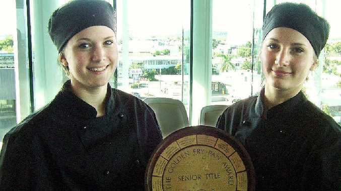Mirani State High School Year 10 students, twins Corissa and Taylah Bezzina, were judged on 17 different criteria to take out the senior section of the Port of Mackay Rotary Club Young Chefs competition.