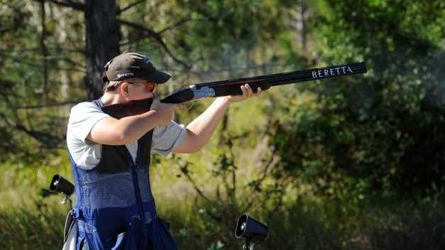 Adam Bylsma had a fantastic morning with the gun at the Maryborough Clay Target Club annual two-day shoot.