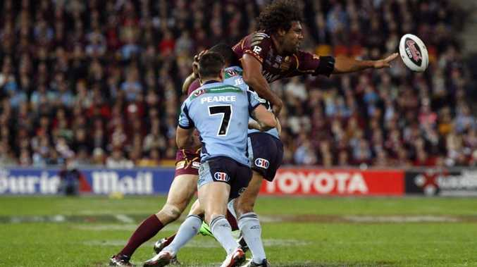 Maroons Sam Thaiday during the State of Origin game at Suncorp Stadium in 2012.