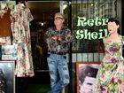 Greg Pead at his colourful shop, Retro Sheila, in Coolangatta.