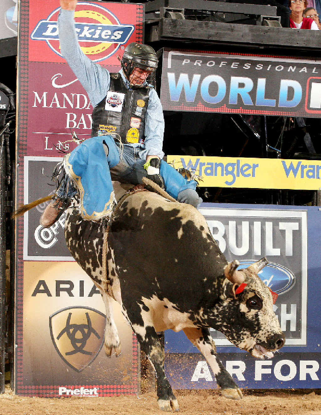 HANG ON: Australian bull riding champion David Kennedywill compete in the Kyogle Bull Ride this weekend.