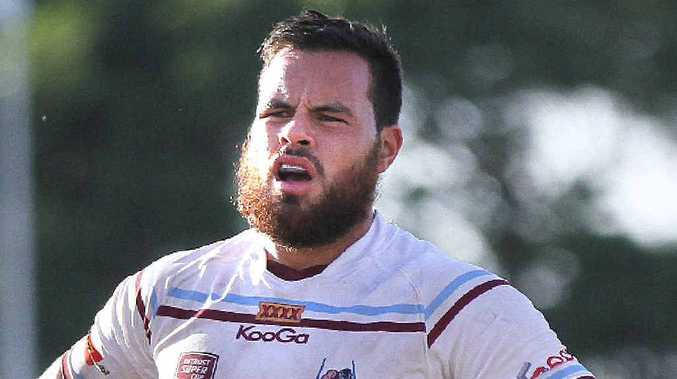 HAIR-RAISING: Mackay Cutters player Tyson Martin vowed he would shave his bushy beard when he scored a try, which he did at the weekend against Burleigh.
