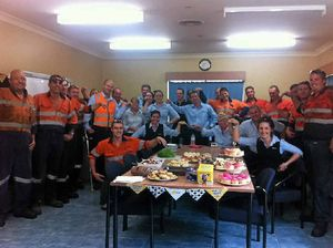 Komatsu Gladstone have cuppa to support Cancer Council