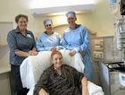 Clinical nurse oncology unit's (left) Deb Right, chemotherapy nurse, Hayley Bhamra, Arlene Kirk, nurse unit manager, with patient Sue La Burniy.
