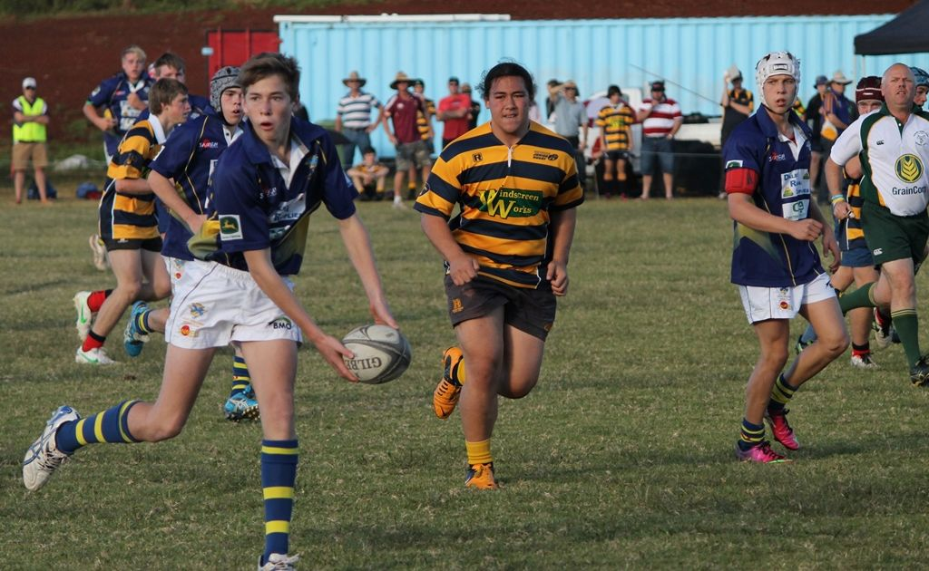 Dugald Frith in action for the Under-15 Wheatmen, who will run out in the grand final this weekend.