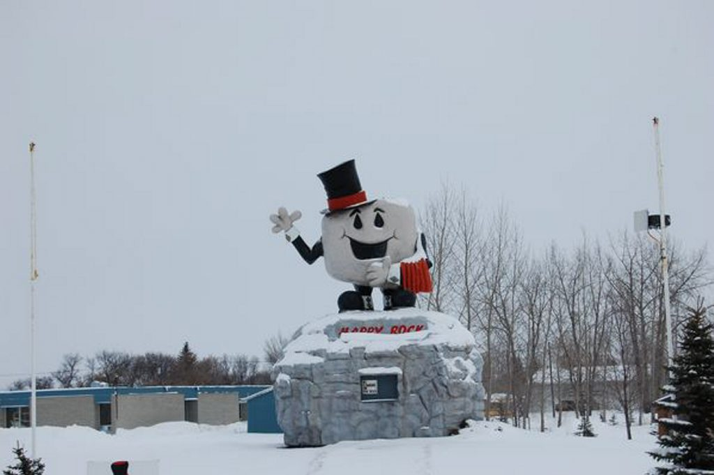 Welcome to Happy Rock in Manitoba, Canada.