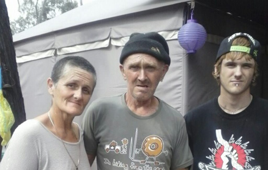 Trying to rebuild their lives after a car crash at Yuleba are (from left) Darlene, John and Toby Williams :Photo Contributed
