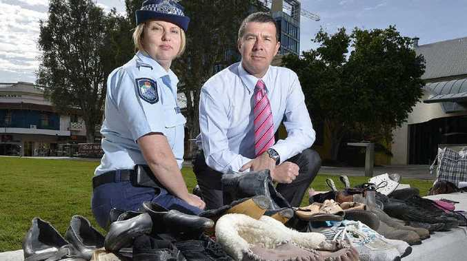 TRAGIC TOLL: Sergeant Nadine Webster and Cr Andrew Antoniolli support Fatality Free Friday.