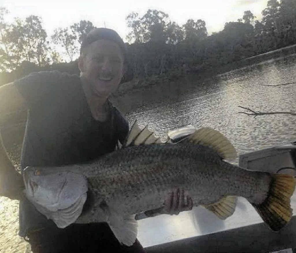 Brodie Jorgensen with his 1m Boyne River barra.