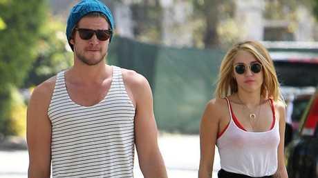 Liam Hemsworth and Miley Cyrus.