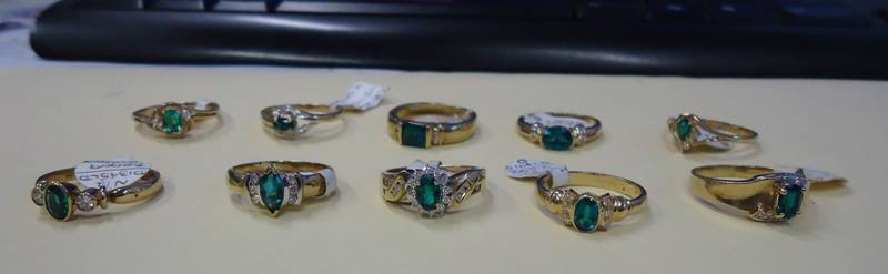 Twelve of 18 rings allegedly stolen from a Lismore jeweler this month have been revovered by police.