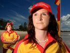 Lifeguards Jordan Carter and Grace Hamilton at Kingscliff Beach.