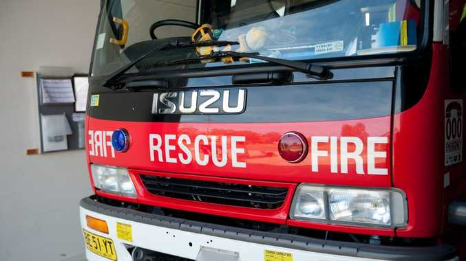 Fire crews have contained a blaze inside a house in Gundagai St this afternoon.