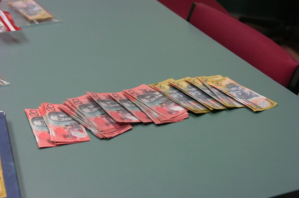 Gladstone Police seized almost $3000 worth of counterfeit money after conducting a RBT in Gladstone at the weekend.