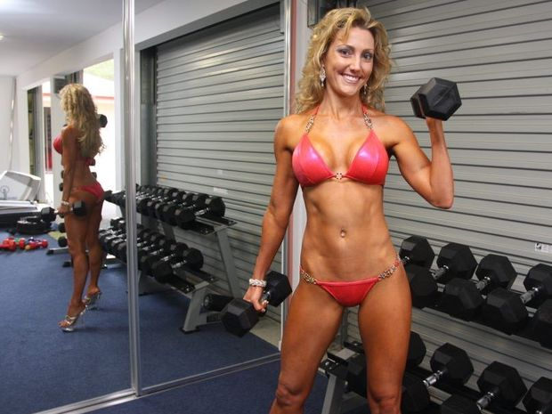 Naomi Lewis of Tanawha won the Bikini Momma category at the Brisbane Natural Physique Titles.