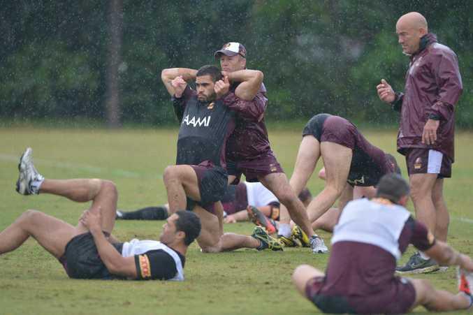 Queensland State of Origin Rugby League team train at Coolum Palmer Resort. Greg Inglis. Photo: John McCutcheon / Sunshine Coast Daily