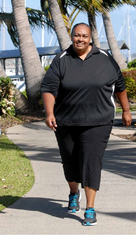 Tracey Manaway, who has lost 35kg, will participate in the BMA Mackay Marina Run on Sunday.