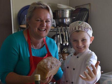 Julie Sheldon and her son Oliver Forsman.