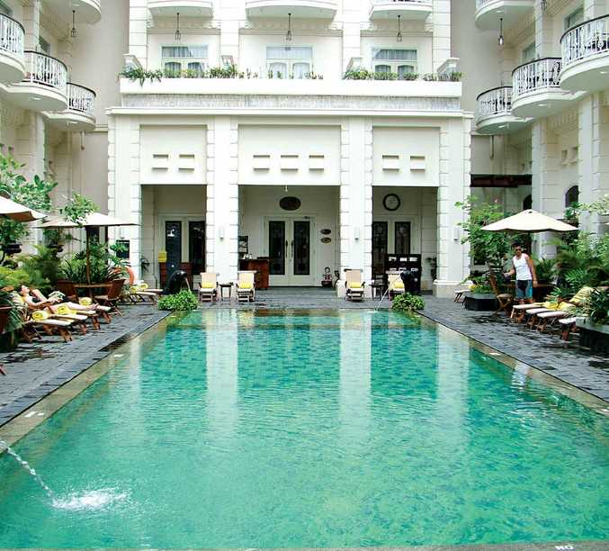 The pool in the Phoenix Hotel in Jogjakarta, Indonesia.