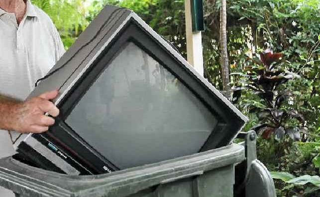 Don't just dump your old TV ... the council is offering a free recycling service.