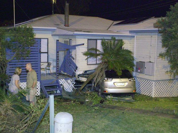 Police and emergency services were run off their feet responding to a spate of cars crashing into houses around the Coffs Coast overnight.