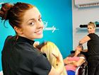 RIGHT CUT: Laura and Nanette Barter work with clients at Lush Cuts and Beauty Organic, Buderim.