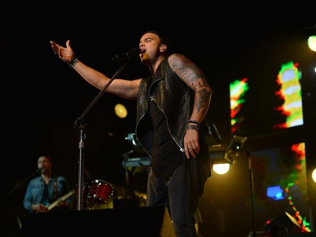 Guy Sebastian on stage at Mackay's Bluewater Quay, as part of his 'Get Along' tour.