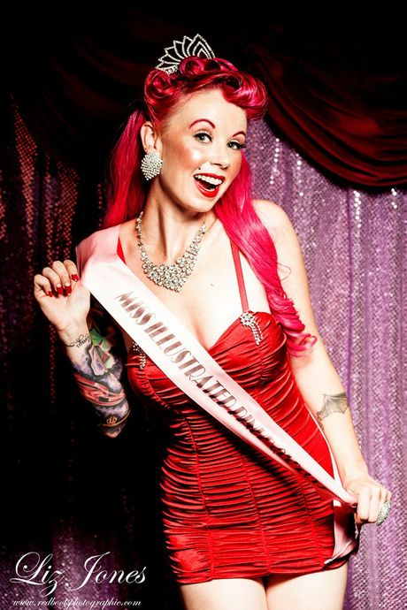 Alicia Taylor aka Scarlet Tinkabelle has just been awarded the title of Miss Illustrated Pinup Australia 2013.