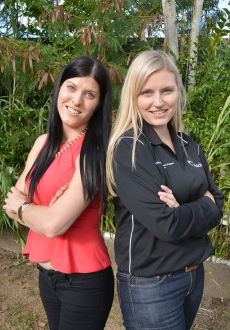 Blonde v Brunette. Tracey Clarke and Jess Joyner. Photo Tanya Easterby / The Gympie Times