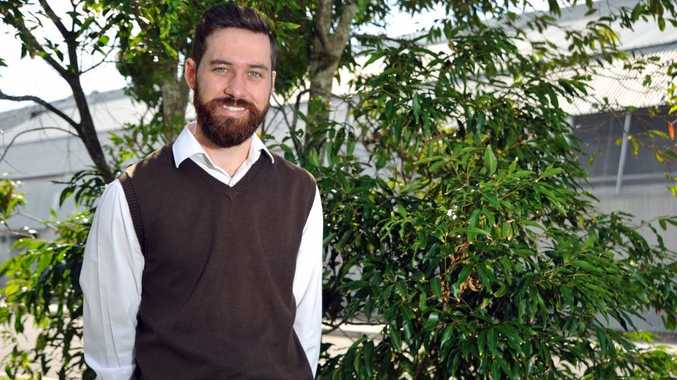 David Knobel has been announced as the new Greens candidate for Fairfax, pictured here at the University of the Sunshine Coast.