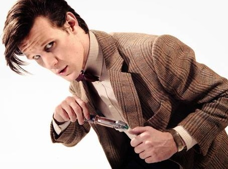 Matt Smith plays Doctor Who in the hit TV show.