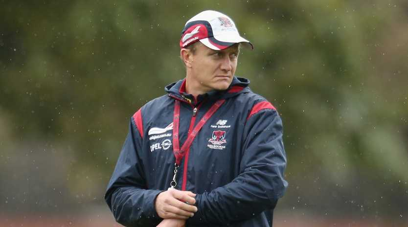 Mark Neeld during his time at the Melbourne Demons. Picture: Scott Barbour/Getty