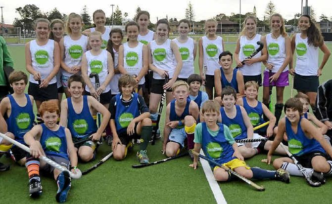 Far North Coast under-13 players are happy to help promote the valuable new Healthy North Coast service.