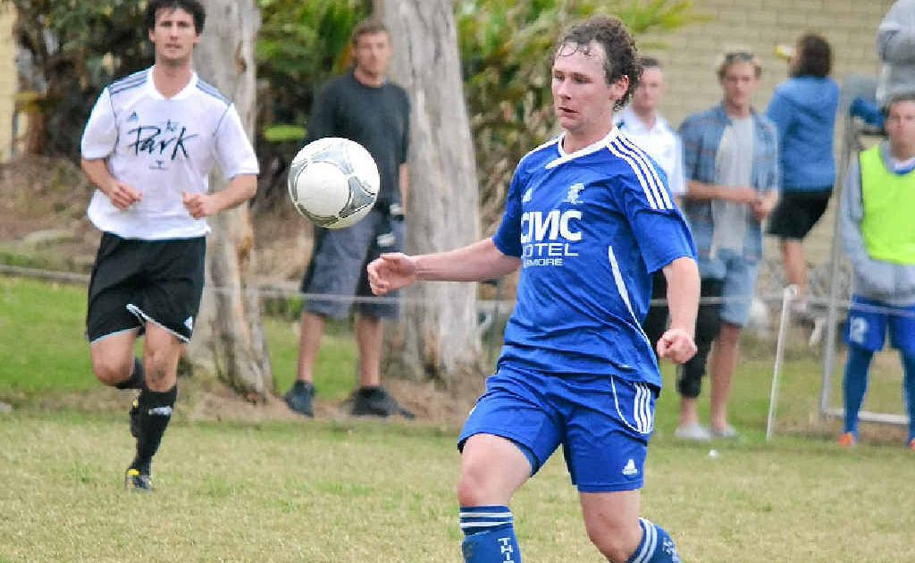 Matt Armstrong landed a memorable hat-trick for Lismore Thistles against Byron Bay Rams on Saturday. He will be hoping to fire his team to victory against Lennox Head Sharks tonight.