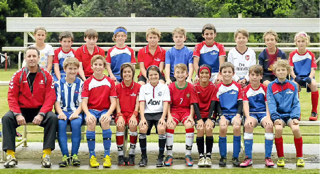 READY: Victor Stokes (front row, far left) and the FNC under-11 and under-12s are preparing to challenge for honours against some of the state's most promising young talent.