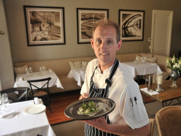 Chef Cameron Matthews, from The Long Apron restaurant at Spicers Clovelly Estate in Montville.