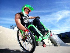 Wheelchair stuntman to tackle 50-foot high ramp on weekend