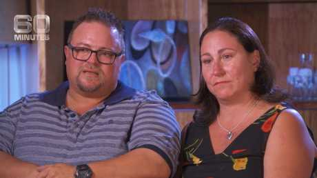 Colin Boucher and Michelle Flynn, whose son Lincoln died after being scratched by a bat.