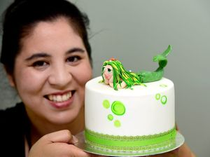Getting a sugar high in a different way by decorating cakes