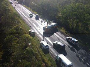 Maryborough-Hervey Bay Rd reopens after four-vehicle crash