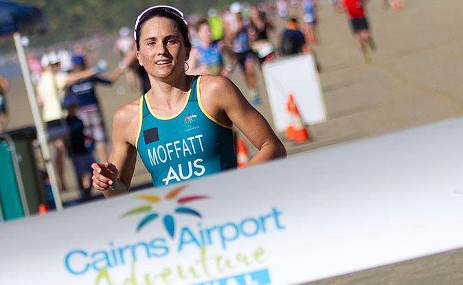 Emma Moffatt is a hot favourite to win the Geelong 70.3 half ironman on Sunday.