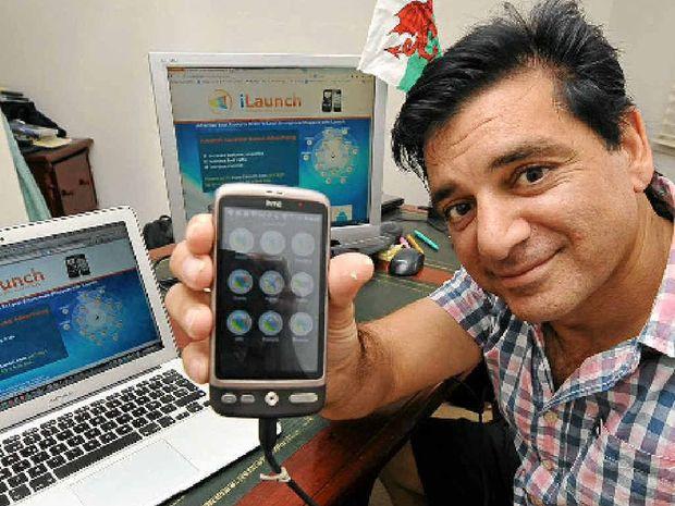 READY FOR LAUNCH: Mush Bahadur from Caloundra has developed a marketing app.