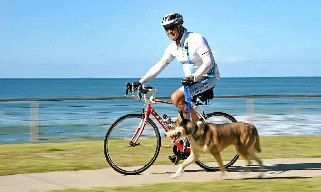 Kim Evans is cycling around Australia hoping to raise $1 million for Motor Neurone Disease research.