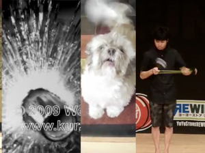 Videos in slow motion, a doggone groan and a yoyo