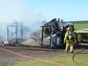 Shed at Cordalba completely destoyed by fire