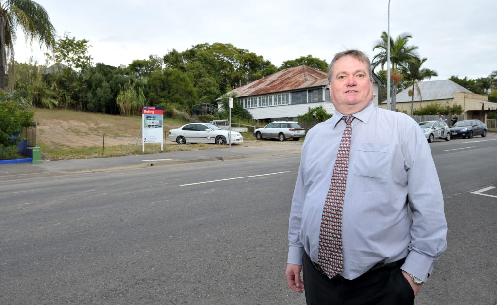 Graham Birchall has designed a building to be built at his property at 202 Brisbane Street in the Ipswich CBD. Photo: Rob Williams / The Queensland Times