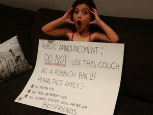 Disciplining our children has become a creative challenge