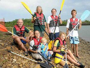Paddlers prepare for fun times at Baffle Creek Raft Race