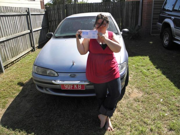 TRAGIC END: Fa'licia Brown with the car her dad gave her just weeks before her tragic death. Photo: contributed